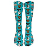 Yuanmeiju Loteria Colorful Xmas Gifts Knee High Graduated Compression Calcetines For Women And Men - Best,Travel Flight Calcetines - Running Fitness (Long 50cm