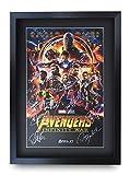 HWC Trading Avengers Infinity War A3 Gerahmte Signiert