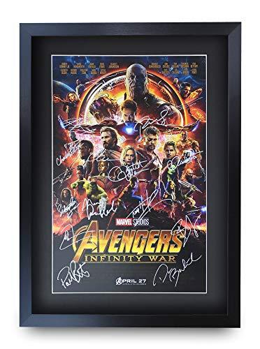 HWC Trading Avengers Infinity War A3 Gerahmte Signiert Gedruckt Autogramme Bild Druck-Fotoanzeige Geschenk Für Robert Downey Jr Chris Evans Chris Hemsworth Filmfans