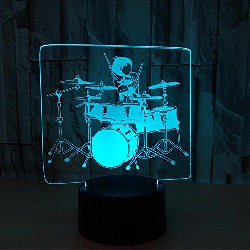 baby Q LED 3D Illusion Lampe, Lumières tactiles colorées, Lampe de Table de Gradient Acrylique, lumière d'alimentation d'USB