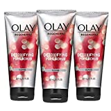 Facial Cleanser by Olay Regenerist, Detoxifying Pore Scrub & Exfoliator, 5 Fl. Oz, Pack of 3 (Packaging May Vary)