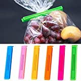 Package contains Set of 18 Pieces 3 Different Size (2.5, 3, and 3 Inch 6 Pieces Each) Plastic Food Snack Bag Pouch Clip Sealer for Keeping Food Fresh for Home Kitchen, Camping, outdoors, offices etc. (Multi-Color, will be sent as per availability) Ve...