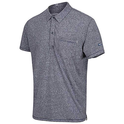 Regatta Polo 100% Coton Mando boutonné au Cou et avec Une Poche Poitrine T-Shirts Vests Homme, Navy Marl, FR : 3XL (Taille Fabricant : XXXL)