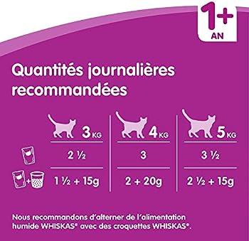 Whiskas Sachets Fraîcheur pour Chat Adulte (Stérilisé Ou Non), Sélection Mixte en Gelée, 84 Sachets (84x100g)