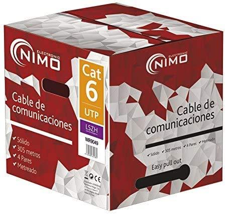 NIMO Cable para Datos FTP Cat.6 rígido Exterior 305m