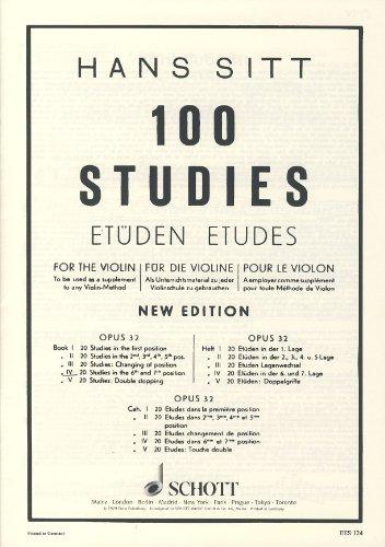SITT - Estudios Op.32 Vol.4: 20 Estudios en 6ª y 7ª Posicion para Violin
