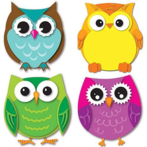 Carson Dellosa – Colorful Owls Mini Colorful Cut-Outs, Classroom Décor, 36 Pieces