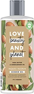 Love Beauty And Planet Shea Butter and Sandalwood Oil Vegan Shower Gel, Majestic Moisture, 4 month supply, 500 ml (Pack of 6)