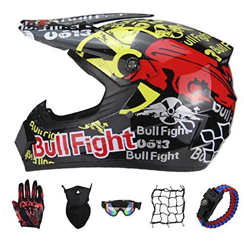 PNNNF Casco de motocross para niños y adolescentes, para bicicleta, mini motocross,...