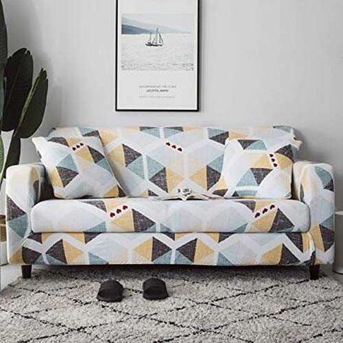 Xin Hai Yuan Stretch Plaid Sofa Schonbezug Elastische Sofabezüge Für Wohnzimmer Funda Sofa Stuhl Couchbezug Wohnkultur 1/2/3/4-Sitzer,D,2 Seater