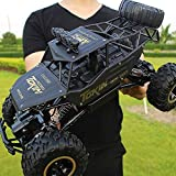 YLJYJ RC Off Road Fast Giant 1:18 2.4Ghz Radio Control Remoto Coche Doble batería Hobby Eléctrico High Speed Racing Rock Crawlers Mo (Coche Inteligente)