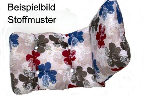 Adlatus-Kühnemuth Polsterauflage Gartenstuhlauflage Modell 100 (175x50 cm Relaxliegenauflage)