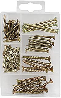 Screws Set Assortment Kit for Chipboard Wall Drywall Mounting 75 Pcs Kit