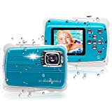 """[Updated 2019 Model] ISHARE Kids Camera, Waterproof Kids Camera Best Gifts for Girls/Boys 21MP HD Underwater Digital Camera with 2.0"""" LCD, 8 X Digital Zoom, Flash and Mic (Blue)"""