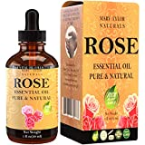 Rose Essential Oil (1 oz), Premium Therapeutic Grade, 100% Pure and Natural, Perfect for Aromatherapy, Relaxation, Improving Mood and Much More by Mary Tylor Naturals