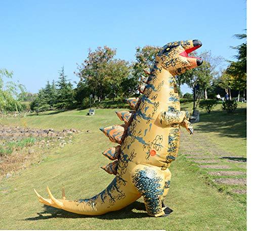 Dengjiam Costume da Dinosauro Gonfiabile Mascotte Stegosauro Gonfiabile Costume da Dinosauro Cosplay Anime Vestiti da Dinosauro Tuta per Adulti Costume di Halloween
