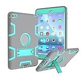 Coque Anti-choc pour Apple iPad Mini 1/2/3 - Aohro Housse de Protection Antichoc Étui en Plastique de Silicone Hybrid...