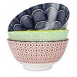 Salad Soup Ramen Bowl, DeeCoo 55 OZ Super Large Stackable Round Fine Porcelain Cereal Pasta Serving...