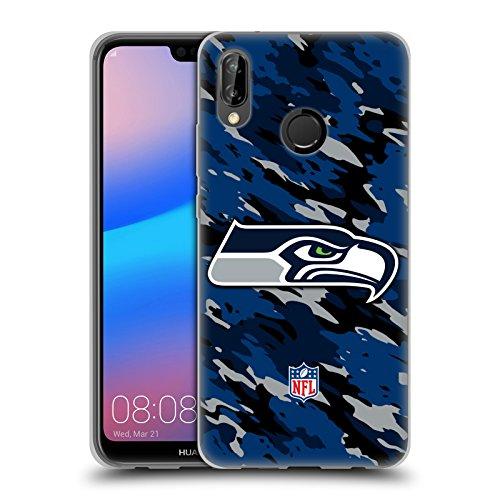 Head Case Designs Offizielle NFL Camou Seattle Seahawks Logo Soft Gel Huelle kompatibel mit Huawei P20 Lite