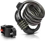 TOPLUS Bike Cable Lock, Heavy Duty 4-Digit Bicycle Lock Cable Lock Bike Locks with Combinations Chain Lock...