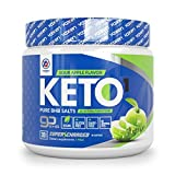 Exogenous Ketones Supplement with Beta Hydroxybutyrate BHB Salts for Ketogenic Diet – Keto Powder Drink to Help Reach Ketosis, Weight Control, Reduce Stress, Boost Energy (Sour Apple, 30 SRV)