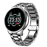 GoodWell Smartwatch Donna, Orologio Fitness Tracker con Cardiofrequenzimetro da Polso Orologio Sportivo Bluetooth Touch Calorie Smart Watch for iPhone And Android,A
