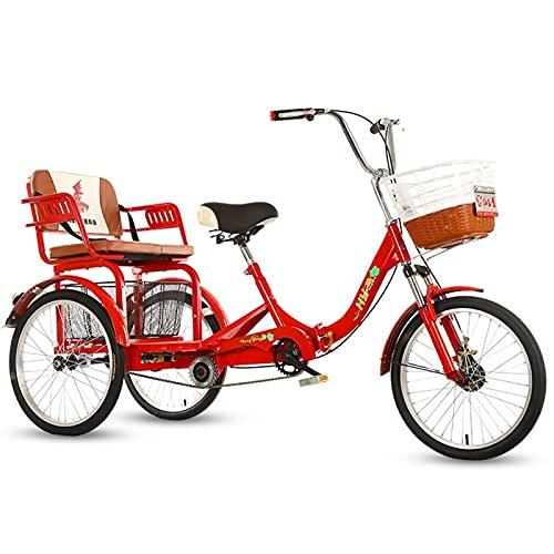 ZNND Bicicletas reclinadas 20 Pulgadas Bicicletas 3 Ruedas para Adultos Triciclo Carro Pedales Cargo Tres Ruedas para Mujeres Hombres para Compras O Bolsa A Prueba Polvo para Perros
