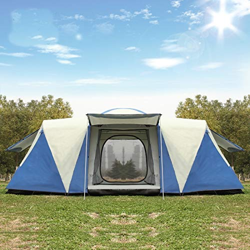 taishan N/A muzi Ultralarge 8-12 Person Double Layer Waterproof Strong Camping Family Tent Carpas Tent muzi