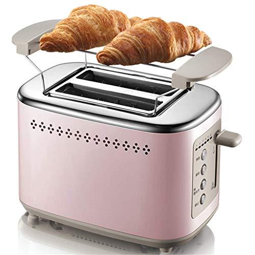 KAYBELE Tostadora de 730W para sándwich, Desayuno de Acero Inoxidable Desayuno a la Parrilla Spit Driver con Parrilla y Cubierta de Polvo, Modo de 6 velocidades, horneado de Doble Cara, Verde