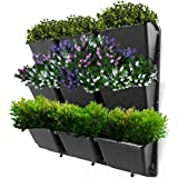 """Vertical Garden Wall Planter Kit- 19""""x19""""- 3 Clip & Create Modules-11 Unique Design Layouts-Vertical Gardening Kit Wall Mount Fits Any Space- Grow Flowers,Succulents,Vegetables, Herbs - Easy DIY"""
