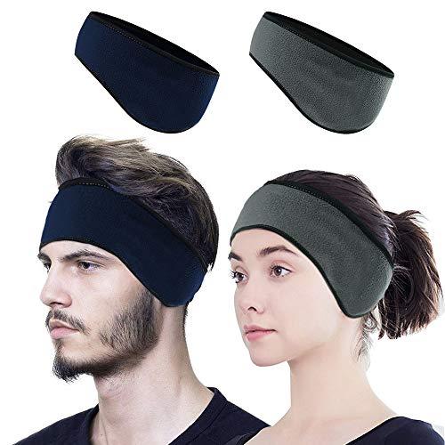 EMAGEREN Cinta para el Pelo Orejeras,Stretchy Winter Headband Térmico Diadema Invierno Calentador de Orejas para Hombres Mujeres Corriendo Deportes