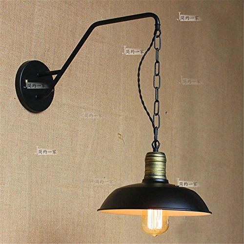 JJZHG wandlamp wandlamp waterdichte wandverlichting Milan Retro gekke metaalwerken lampenkap industriële mijnbouw garage keuken eettafel wandlamp omvat: wandlamp