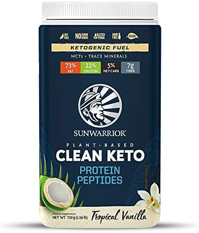 Sunwarrior Clean Keto Vegan Protein Powder with MCT Oil Essential Vitamins and Plant Based Protein product image