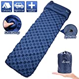 VOLADOR Inflatable Sleeping Pad Mat, Self-Inflatable Waterproof Camping Air Mattress with Pillow, Ultralight...