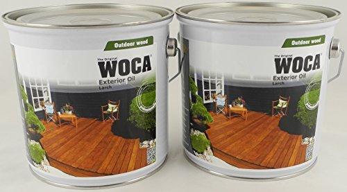 Woca Spar-Set 2x Exterior Öl Lärche 2,5l zum Pflegen und Färben