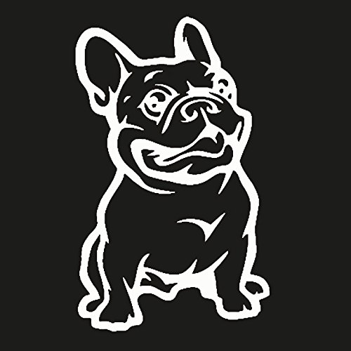 French Bulldog Vinyl Decal Sticker|Cars Trucks Vans Walls Laptop|White|5.5 in|KCD520