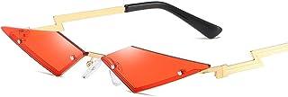 نظارات شمسية من HDcraft صغيرة بدون إطار عين القطة للوجه صغير، نمط اللهب نظارات شمسية نسائية