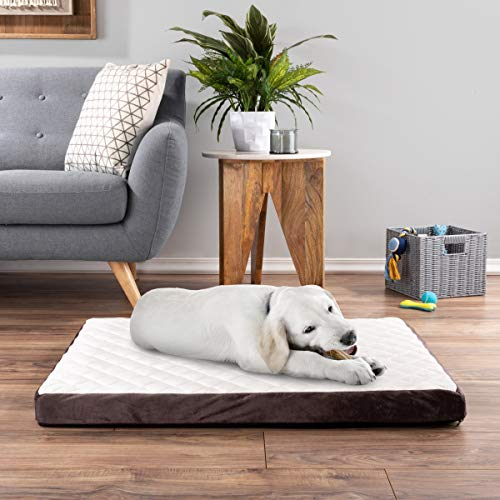 PETMAKER Pet Bed, Bamboo Charcoal Infused Odor Resistant Egg Crate Foam Orthopedic Cushion with Nonslip, Machine Washable Cover, 36 x 27 x 2.75, Medium