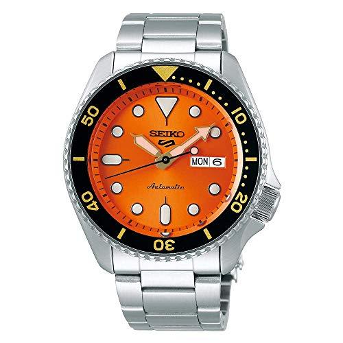 Reloj Seiko 5 Sports automático para Hombre con Esfera Naranja, SRPD59K1.