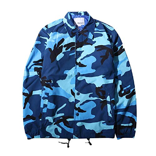 Frühling und Herbst High Street Trend Loose Military Style Coach Anzug Herren Camouflage Jacke Herren Overall Gr. Medium, Farbe: Blau