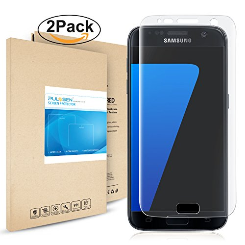 PULESEN Galaxy S7 Pellicola Protettiva, [2-Pack] Samsung Galaxy S7 Protezione S7 Pellicola, 99,9% Proteggi Schermo HD Chiaro 2.5D Pellicola Protettiva per Galaxy S7