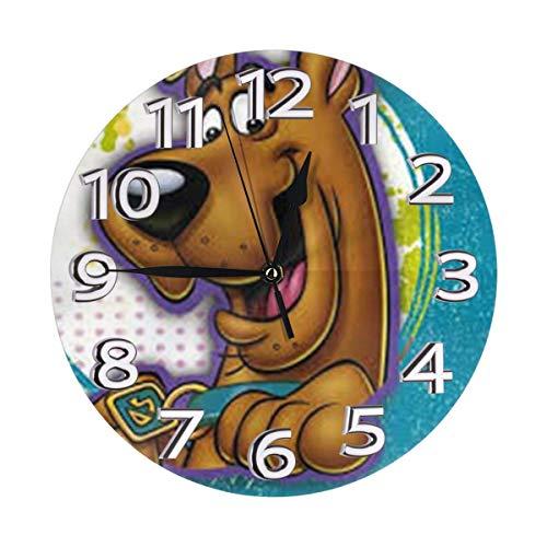 Scooby Dog - Reloj de pared redondo de PVC de 25,4 cm,...