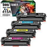 Cool Toner Compatibile per HP 415A 415X W2030X W2030A Cartucce di Toner per HP Color Laserjet Pro MFP M479fdw M479dw M479fdn M479,HP Color Laserjet M454dw M454dn M454 W2031A W2032A W2033A(Senza chip)