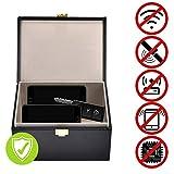 Luoistu keyless go Schutz autoschlüssel Box, Diebstahlschutz Faraday Autoschlüssel Box, RFID Signal Blocker Pouch für Autoschlüssel und Handy (Schwarz)