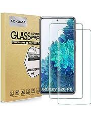 AOKUMA Samsung Galaxy S20 FE 5G/Galaxy S20 FE gehard glas Screen Protector, [2 Pack] Premium Quality Guard Film, Case, Comfortabele ronde rand, schokbestendig, krasbestendig oliebestendig