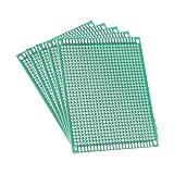 uxcell ユニバーサルボード PCBボード 7x9cm 厚さ1.6mm ガラス繊維板 片面プロトボード グリーン 5個入り