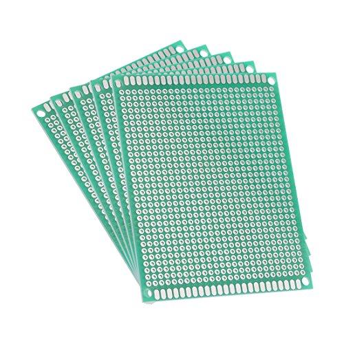 sourcing map 5Stk. einseitig universelle Leiterplatte PCB Platine Dicke 1,6mm 7x9cm grün DE de
