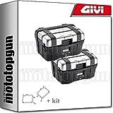 givi portamaletas lateral fijacion rapida + maletas lateral trekker trk46n compatible con bmw r 1200 gs adventure 2014...