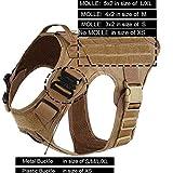 Táctico Militar Arnés modular del perro táctico militar sin tirar del frente Clip de aplicación de la ley K9 trabajando chaleco de caza Viaje ( Color : Coyote brown , Size : S chest 22 to 27inch )