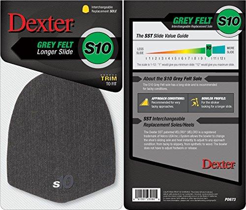 Dexter S10 Semelle de Talon en Feutre Gris